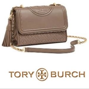 Tory Burch Small Fleming Leather Convertible Bag